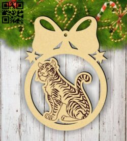 Christmas ball E0015356 file cdr and dxf free vector download for laser cut