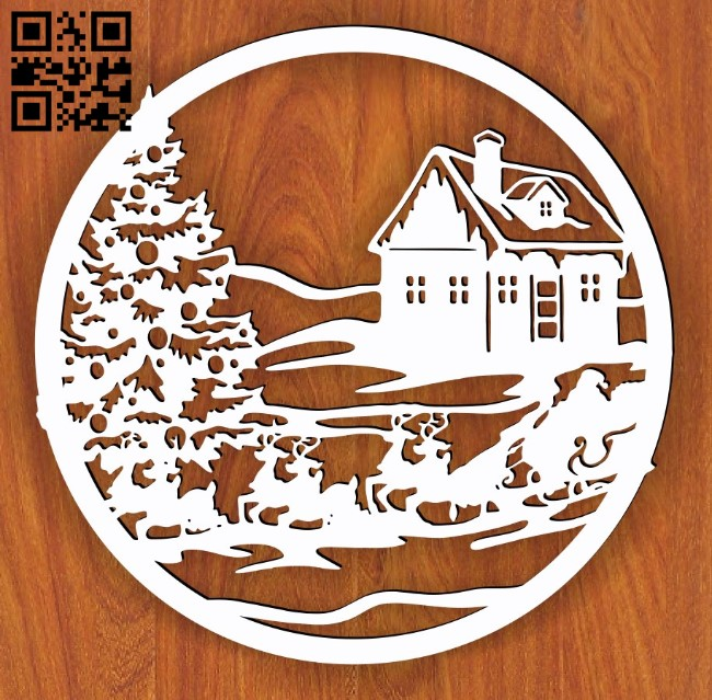 Christmas decor E0015244 file cdr and dxf free vector download for laser cut plasma