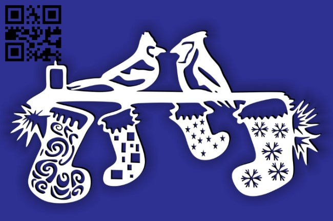 Christmas decor E0015258 file cdr and dxf free vector download for laser cut plasma