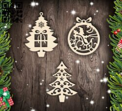 Christmas decor  E0015314 file cdr and dxf free vector download for laser cut plasma