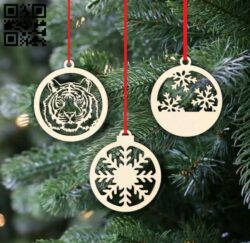 Christmas decor E0015323 file cdr and dxf free vector download for laser cut plasma