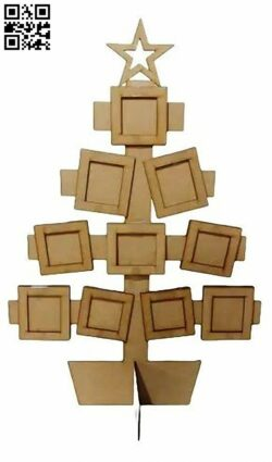 Christmas photo frame E0015329 file cdr and dxf free vector download for laser cut