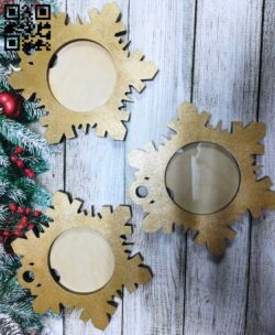 Christmas photo frames E0015394 file cdr and dxf free vector download for laser cut