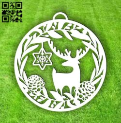 Christmas reindeer E0015331 file cdr and dxf free vector download for laser cut plasma