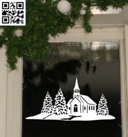 Christmas scene E0015321 file cdr and dxf free vector download for laser cut plasma