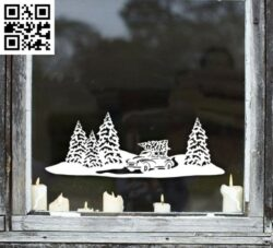 Christmas scene E0015322 file cdr and dxf free vector download for laser cut plasma