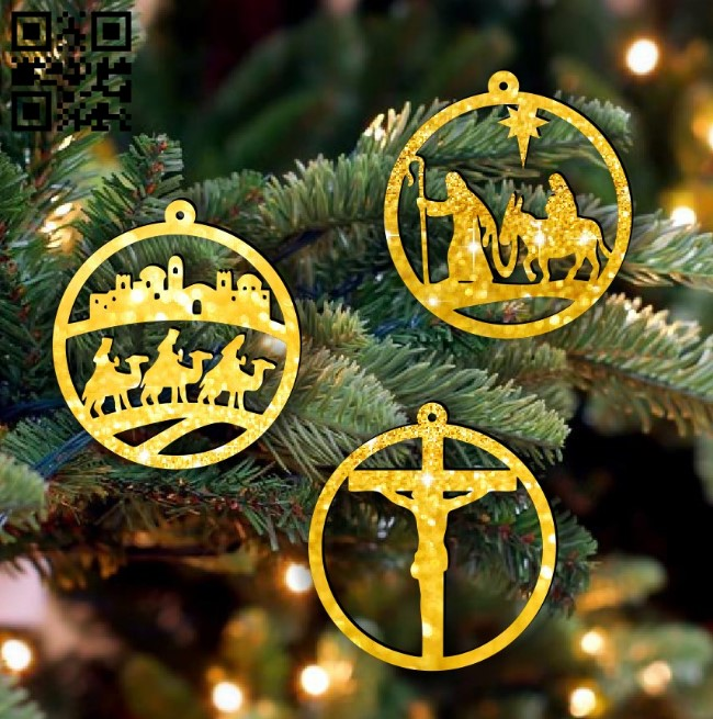 Christmas tree E0015299 file cdr and dxf free vector download for laser cut
