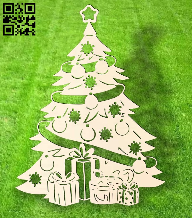 Christmas tree E0015301 file cdr and dxf free vector download for laser cut
