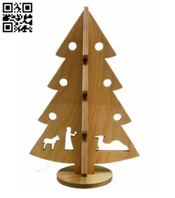 Christmas tree E0015352 file cdr and dxf free vector download for laser cut