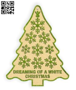 Christmas tree E0015353 file cdr and dxf free vector download for laser cut