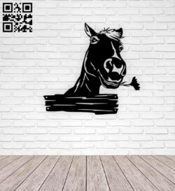 Cute horse E0015345 file cdr and dxf free vector download for laser cut plasma