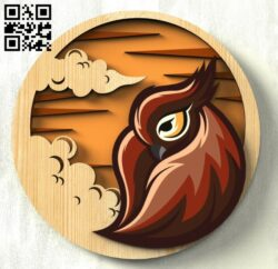Dawn bird E0015305 file cdr and dxf free vector download for laser cut