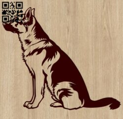 Dog E0015383 file cdr and dxf free vector download for laser engraving machine
