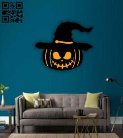 Halloween decor E0015316 file cdr and dxf free vector download for laser cut plasma