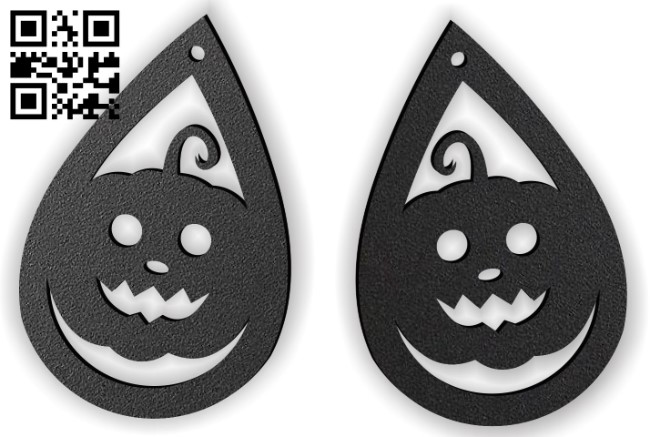 Halloween earring E0015237 file cdr and dxf free vector download for laser cut plasma
