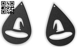 Halloween hat earring E0015309 file cdr and dxf free vector download for laser cut plasma