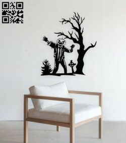 Halloween pumpkin zombie E0015347 file cdr and dxf free vector download for laser cut plasma