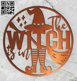Halloween witch E0015249 file cdr and dxf free vector download for laser cut plasma