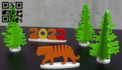 Happy New Year 2022 E0015294 file cdr and dxf free vector download for laser cut