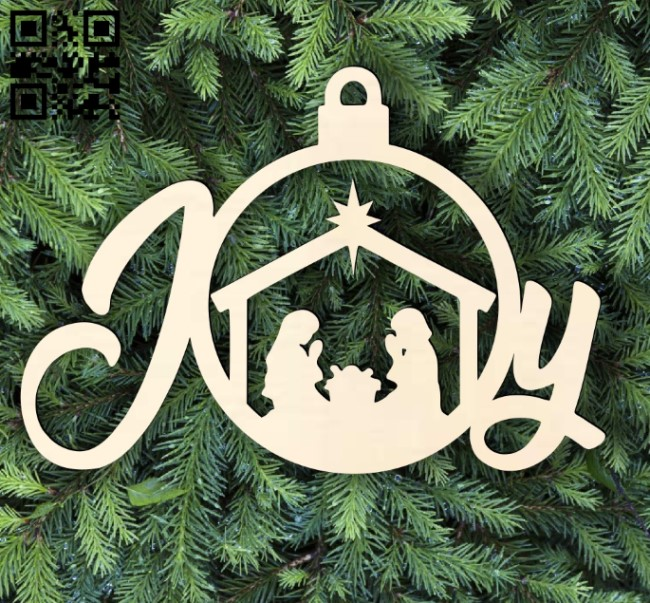 Joy with Christmas E0015303 file cdr and dxf free vector download for laser cut plasma
