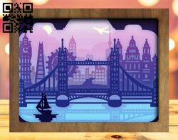 London city light box E0015265 file cdr and dxf free vector download for laser cut