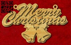 Merry Christmas E0015229 file cdr and dxf free vector download for laser cut