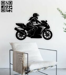 Motorcycle E0015367 file cdr and dxf free vector download for laser cut plasma