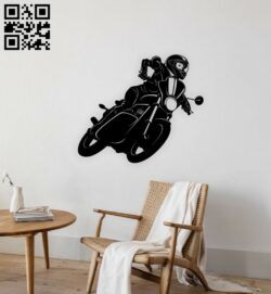 Motorcycle E0015390 file cdr and dxf free vector download for laser cut plasma