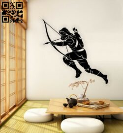 Ninja E0015389 file cdr and dxf free vector download for laser cut plasma