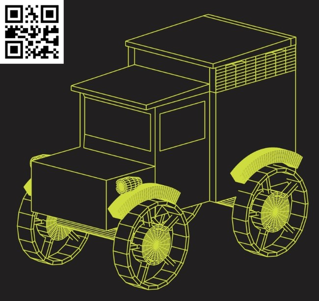 Old car E0015275 file cdr and dxf free vector download for laser engraving machine