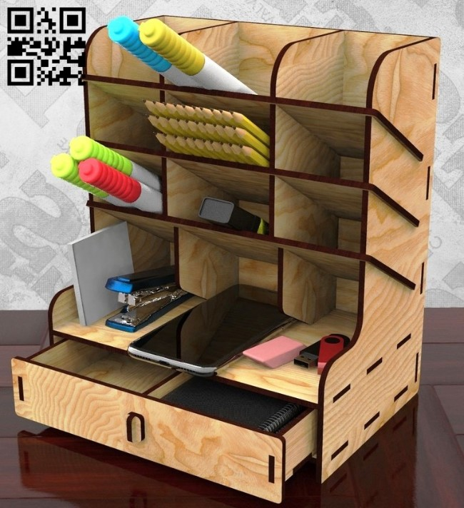 Organizer E0015215 file cdr and dxf free vector download for laser cut