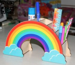 Rainbow organizer E0015349 file cdr and dxf free vector download for laser cut