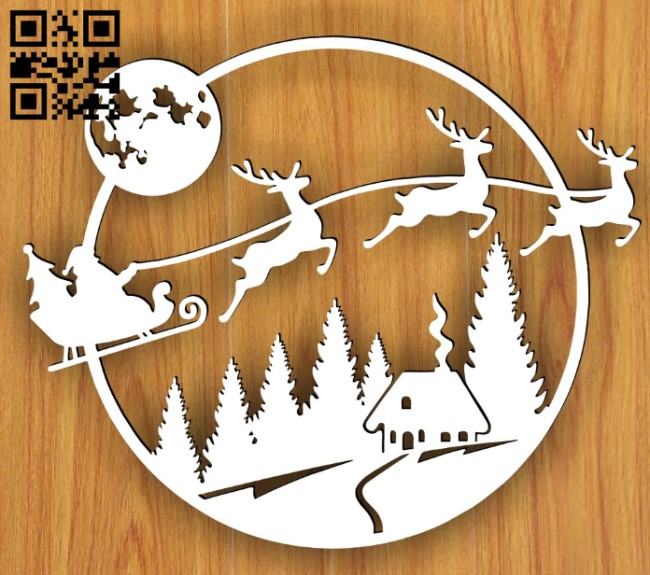 Santa Claus E0015253 file cdr and dxf free vector download for laser cut plasma