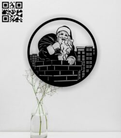 Santa Claus E0015372 file cdr and dxf free vector download for laser cut plasma