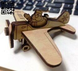 Santa Claus airplane E0015306 file cdr and dxf free vector download for laser cut