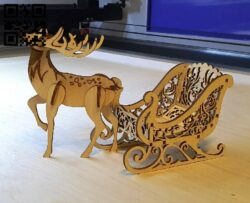 Sleigh E0015355 file cdr and dxf free vector download for laser cut