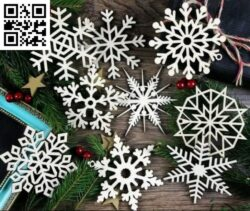 Snowflake E0015307 file cdr and dxf free vector download for laser cut