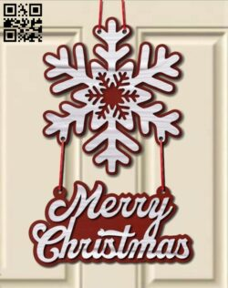 Snowflakes door decoration E0015261 file cdr and dxf free vector download for laser cut plasma