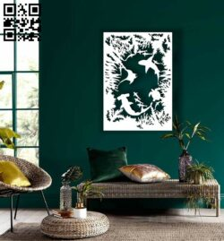 Water world wall decor E0015269 file cdr and dxf free vector download for laser cut plasma